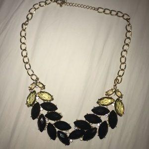 Francesca's black leaf statement necklace